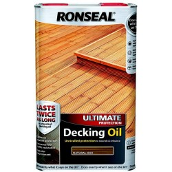 Ronseal Ultimate Decking Oil Natural Oak 5L