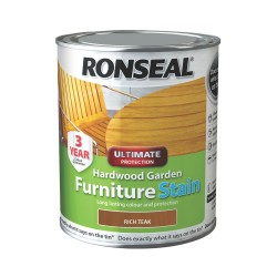 Ronseal Ultimate Garden Furniture Stain Rich Teak 750ml
