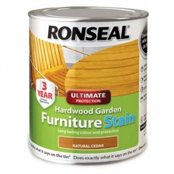 Ronseal Ultimate Garden Furniture Stain Natural Cedar 750ml