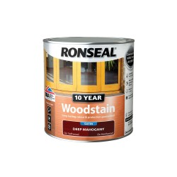 Ronseal 10 Year Deep Mahogany Woodstain Satin 750ml