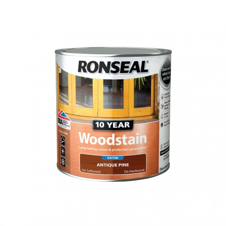 Ronseal 10 Year Antique Pine Woodstain Satin 750ml