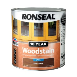 Ronseal 10 Year Dark Oak Woodstain Satin 750ml