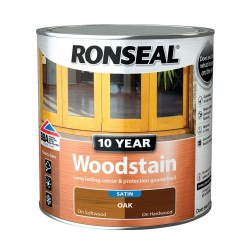 Ronseal 10 Year Oak Woodstain Satin 750ml