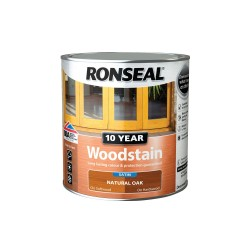 Ronseal 10 Year Natural Oak Woodstain Satin 750ml