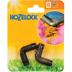 Hozelock 90 Degree Elbow Connector, 13 mm - Pack of 2