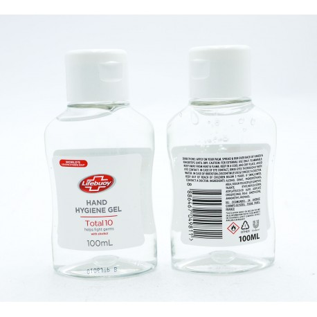 Unilever Lifebuoy Hand Hygiene Gel 100ml - Contains 64% Alcohol