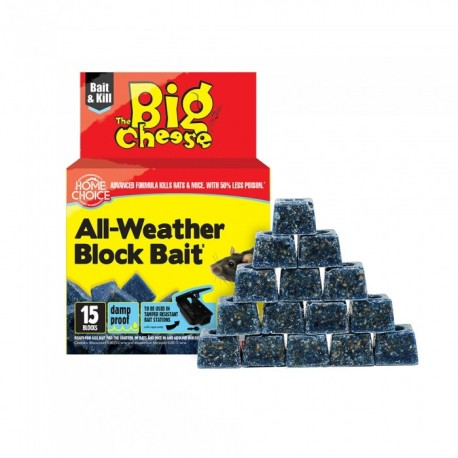 The Big Cheese All Weather Block Bait, Pack of 15