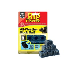The Big Cheese All Weather Block Bait, Pack of 6