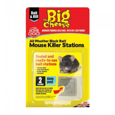 The Big Cheese Rodent Bait Station, Pack of 2
