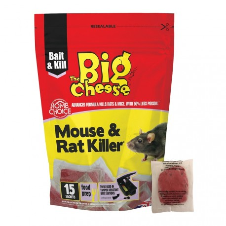The Big Cheese Mouse & Rat Killer Pasta Sachets, Pack of 15