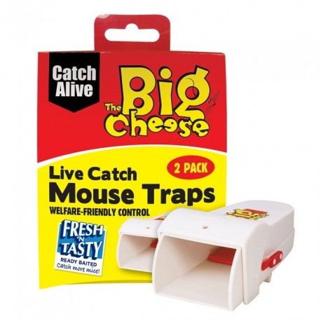 The Big Cheese Live Catch Mouse Trap, Pack of 2