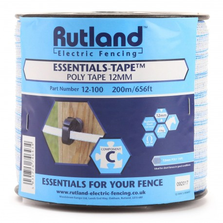 Rutland Essentials-Tape-Poly Tape 12mm 200m