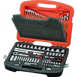 "TACTIX 1/4"" & 1/2"" Socket Set 113 Pieces"