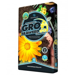 GROWMOOR Traditional Gro+ Seaweed Compost 60L - 3 For £15