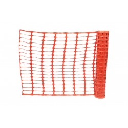 Orange Barrier Fencing Netting 1m x 50m