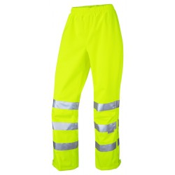 Ladies Breathable Hi-Vis Overtrousers Yellow