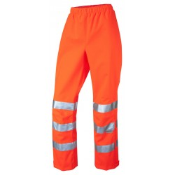 Ladies Breathable Hi-Vis Overtrousers Orange