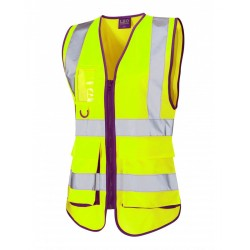 Ladies Lynmouth Superior Hi-Vis Waistcoat Yellow