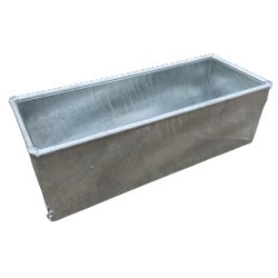 "IAE Galvanized Water Trough 3' x 18"" x 15"" (36gal)"