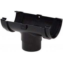 Polypipe 75mm Mini Half Round Gutter Running Outlet