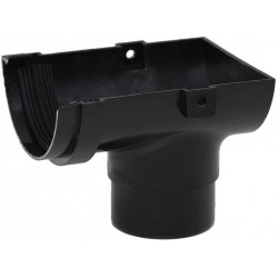 Polypipe 75mm Mini Half Round Gutter Stop End Outlet