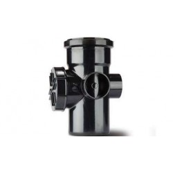 Polypipe 110mm Soil Single Socket Access Pipe, Black
