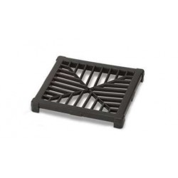 Polypipe 150mm Square Plastic Grid For Gully, Black