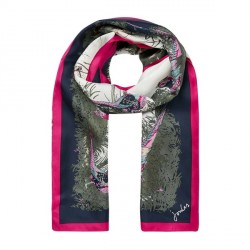 Joules Louise Blue Silk Scarf