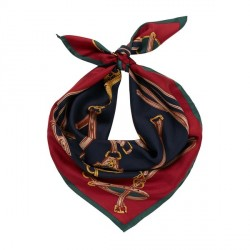 Joules Bloomfield Navy Silk Scarf