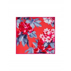 Joules Bloomfield Navy/Red Floral Silk Scarf