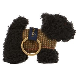 Joules Black Scottie Dog Keyring