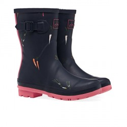 Joules Navy Veg Printed Mid Height Wellies