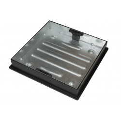 Clark Drain 450mm x 450mm x 80mm Galvanised Tray and Cover
