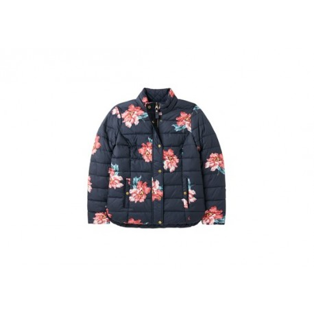 Joules Highgrove Navy Floral Reversible Quilted Jacket