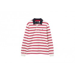 Joules Red Striped Rugby Shirt