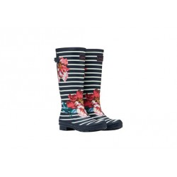 Joules Floral Printed Wellies With Adjustable Back Gusset