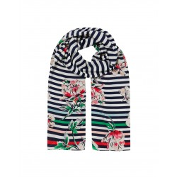 Joules Navy Peony Printed Scarf