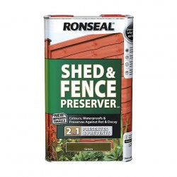 Ronseal Shed and Fence Preserver, Green 5L