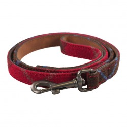 Joules Heritage Red Tweed Leather Lead