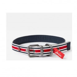 Joules Red and Navy Striped Dog Collar