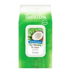 Tropiclean Pet Ear Cleaning Wipes, 50 wipes