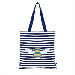 Joules Bee Canvas Tote Bag