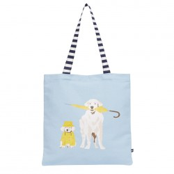 Joules Blue Dog Canvas Tote Bag