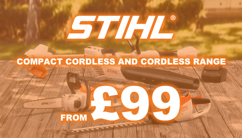 STIHL COMPACT & CORDLESS RANGES FROM £99