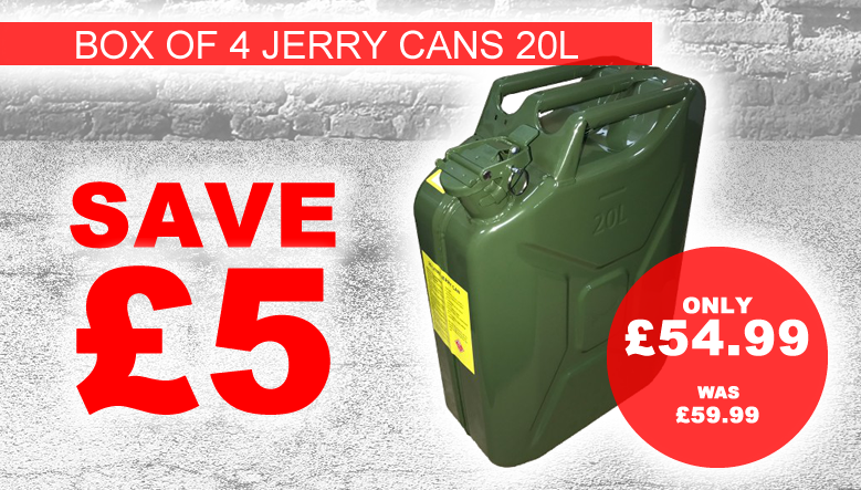 Multipack Box of Jerry Cans
