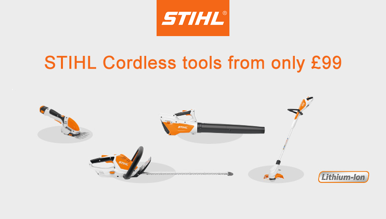 Fanatstic Lithium-Ion STIHL Products from £99