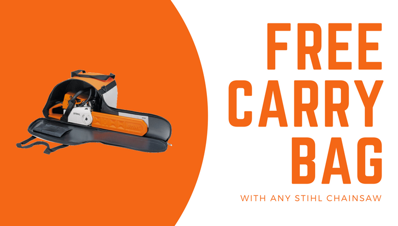 Free Chainsaw Carry Bag!